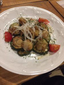 わっくカフェホタテのスモークとグリル野菜