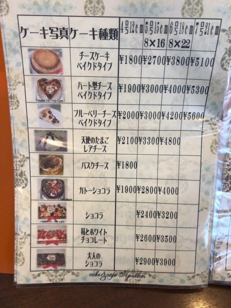 アポロン デコレーションケーキ1