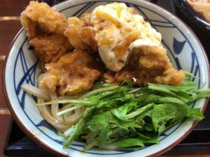 丸亀製麺 タル鶏天ぶっかけ(並)