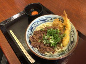 丸亀製麺 牛すき釜玉(大)