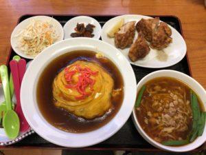 福楽 若鶏の唐揚+天津飯 メニュー1