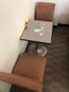 モリスパ テーブル席