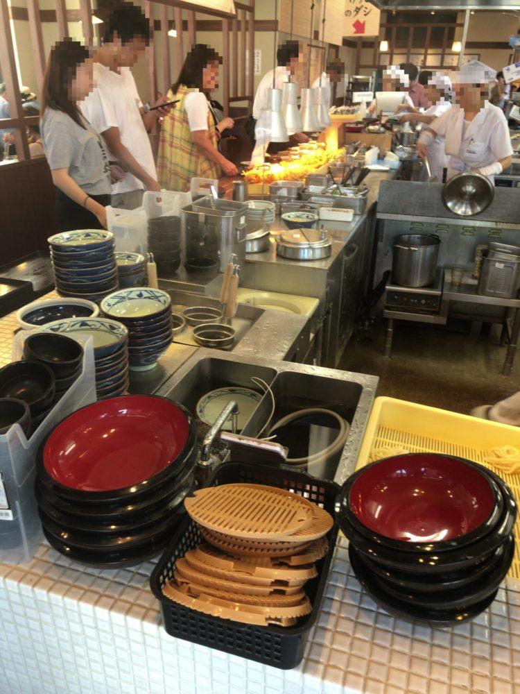 丸亀製麺 店内カウンター
