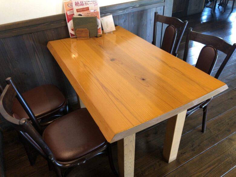 町家カフェ テーブル席