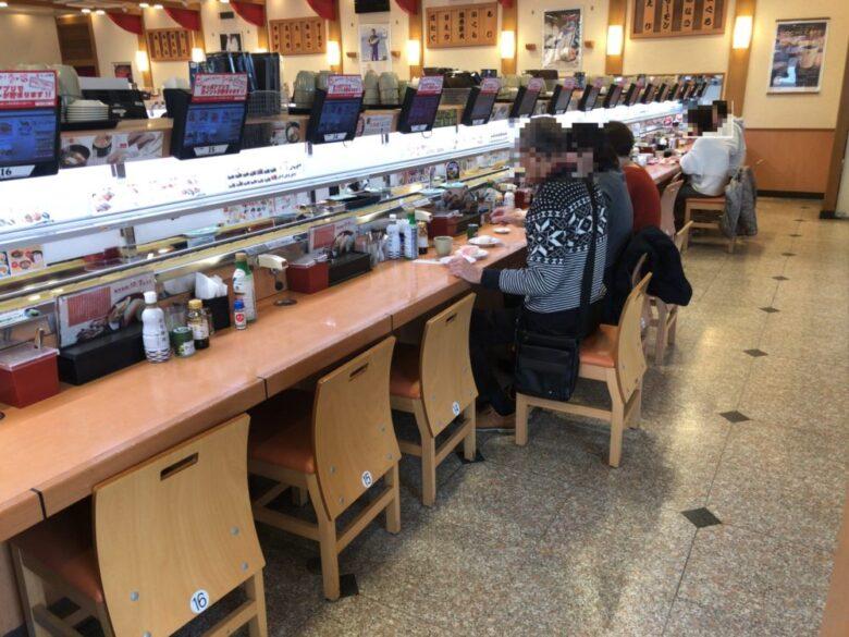 かっぱ寿司 カウンター