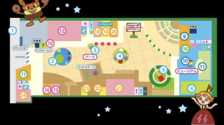 名古屋アンパンマンミュージアム 施設内地図